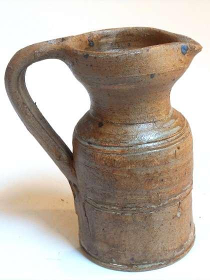 Pot à lait droit marron