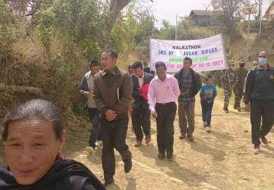 Walkathon at Awangkasom village