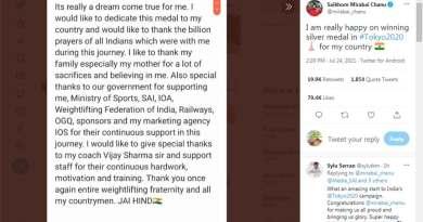 Kovind, Modi, Thakur, Sachin hail Mirabai Chanu