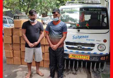 5000 Codeine Phosphate syrup bottles recovered from 2 persons