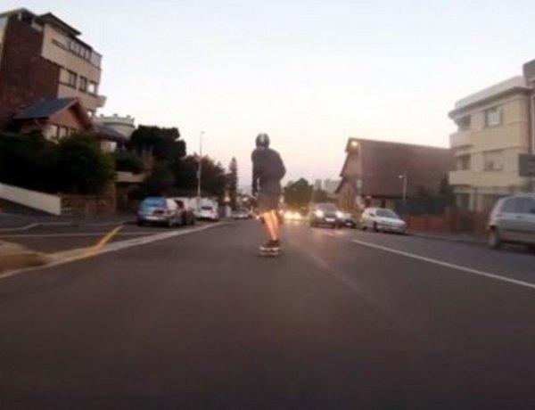 La vidéo du jour #16/02/13 : Flashé en skateboard !