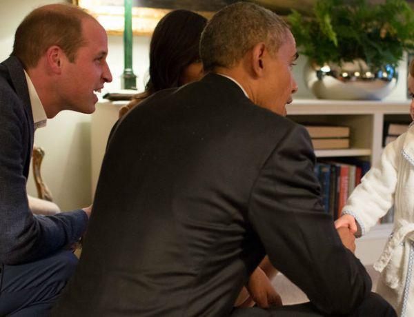 Quand le prince George rencontre Barack Obama
