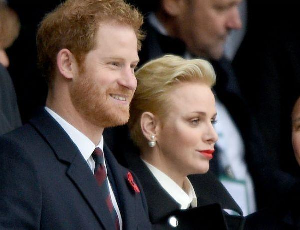 Charlène de Monaco et le prince Harry réunis grâce à leur passion pour le rugby