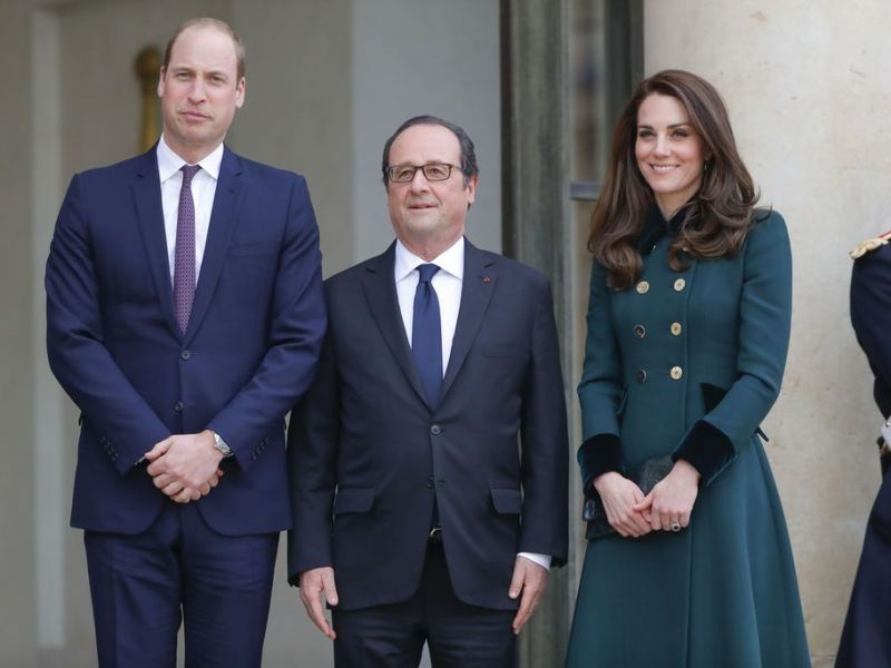 Kate Middleton et le prince William ont rencontré François Hollande