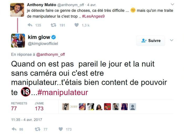 #LesAnges9 : Anthony Matéo : « Kim, ce n'est pas une fille que je présenterai à ma mère ! »