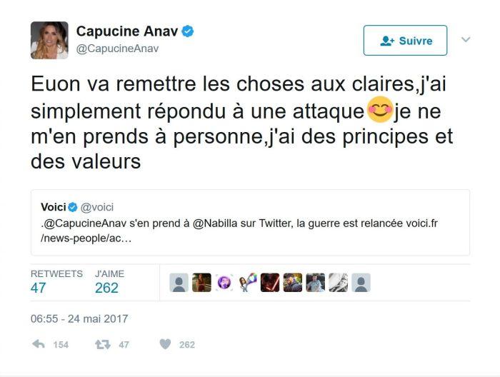 Capucine Anav : Clashée par Nabilla, elle lui répond cash !
