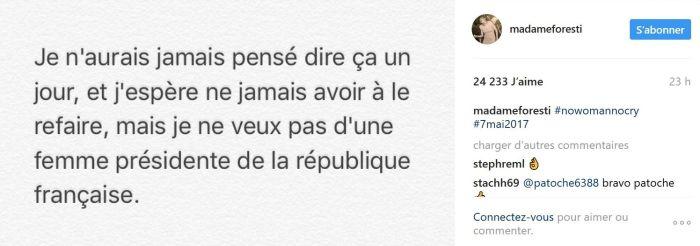 Florence Foresti dit non à Marine Le Pen !