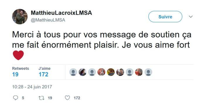 #LMvsMonde : Matthieu Lacroix victime d'un accident de la route !