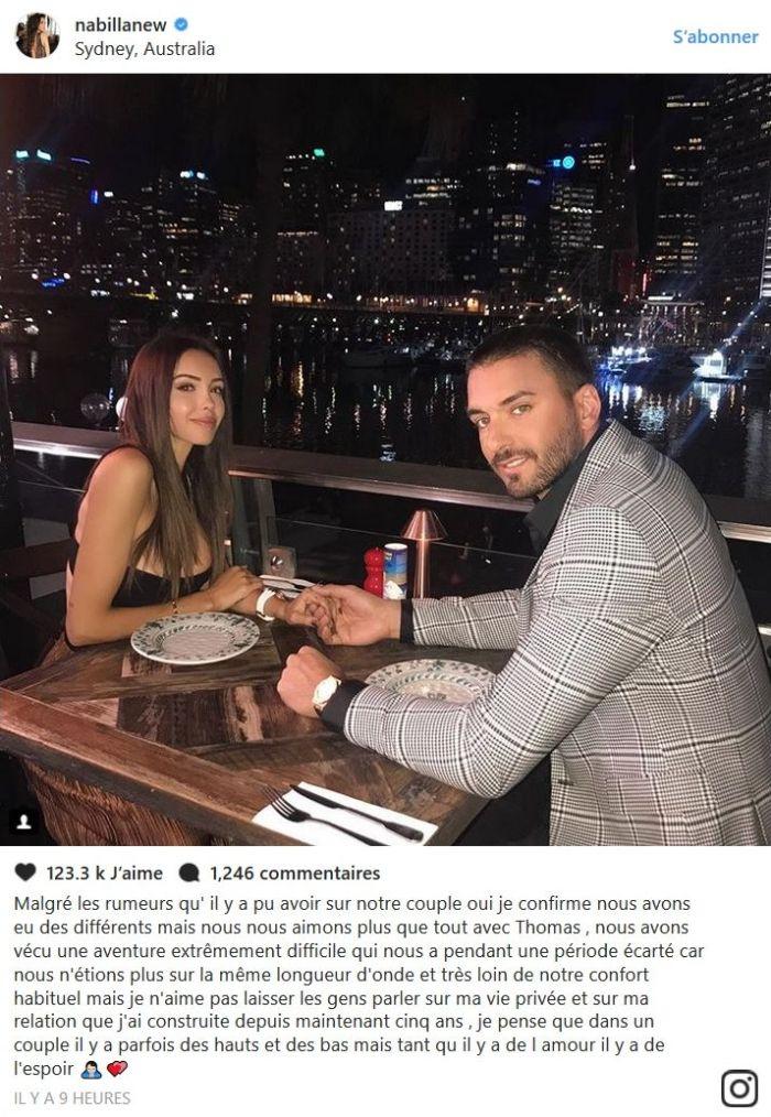 Nabilla Benattia réellement séparée de Thomas Vergara ? Elle répond enfin !