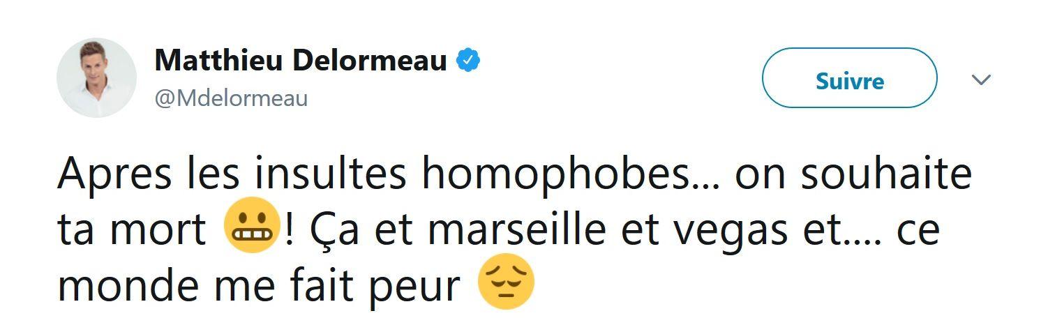 Matthieu Delormeau : Un homophobe souhaite sa mort sur Twitter