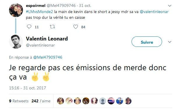Les Marseillais VS Le Reste du Monde : Valentin Leonard dézingue l'émission !