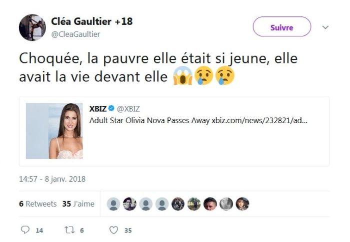Olivia Nova : La nouvelle star du porno américain meurt à l'âge de 20 ans