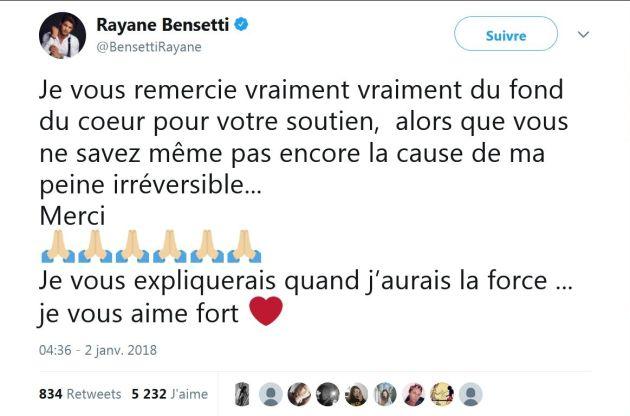 Rayane Bensetti : L'acteur connaît une « peine irréversible » !