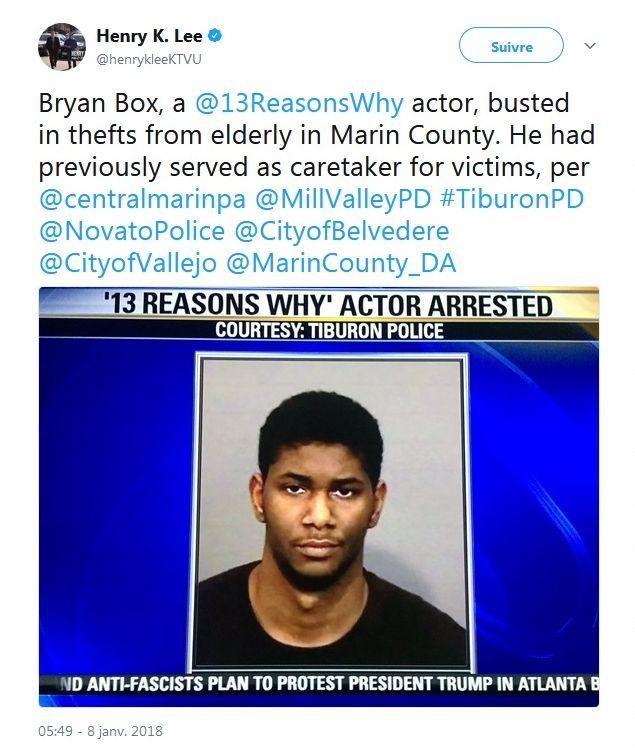 13 Reasons Why : Un acteur arrêté pour avoir cambriolé des personnes âgées !