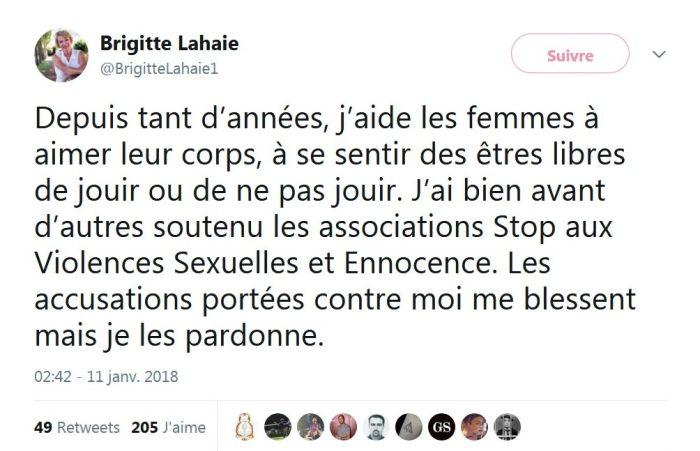 Brigitte Lahaie « On peut jouir lors d'un viol » : Elle revient sur la polémique !