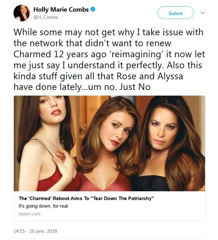 Holly Marie Combs : Son coup de gueule contre le reboot de Charmed