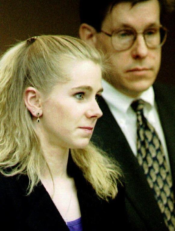 Tonya Harding au tribunal en 1995