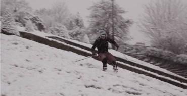 Incroyable : Ils ont skié à Montmartre !