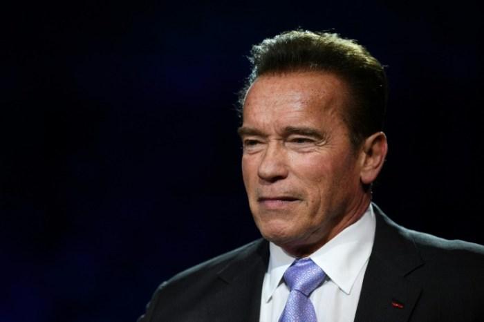 Arnold Schwarzenegger le 12 décembre 2017 à Boulogne-Billancourt, en France