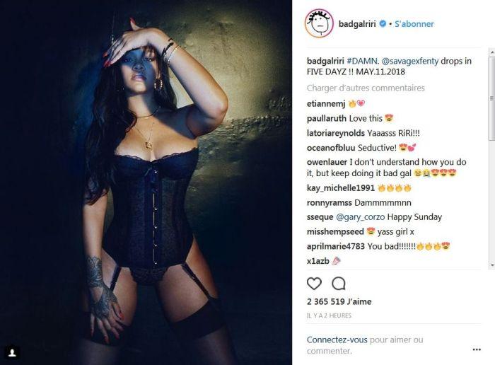 Rihanna sexy sur Instagram : Elle donne tout pour sa ligne de lingerie !