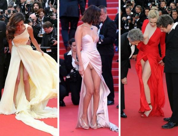 Festival de Cannes : Amal Clooney, Bella Hadid… Quand les stars en montrent trop sur le tapis rouge