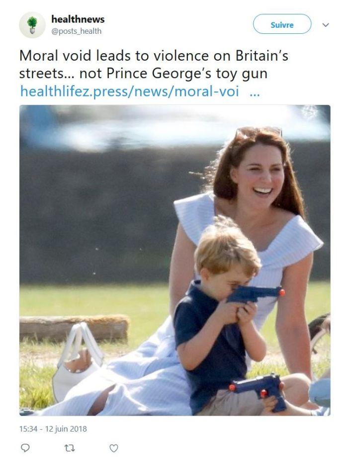 Prince George de Cambridge : La photo qui choque l'Angleterre !