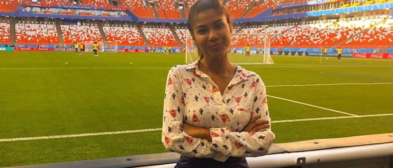 """<font color=""""#be075e"""" >Coupe du Monde 2018 </font> : Une journaliste agressée sexuellement en plein direct"""
