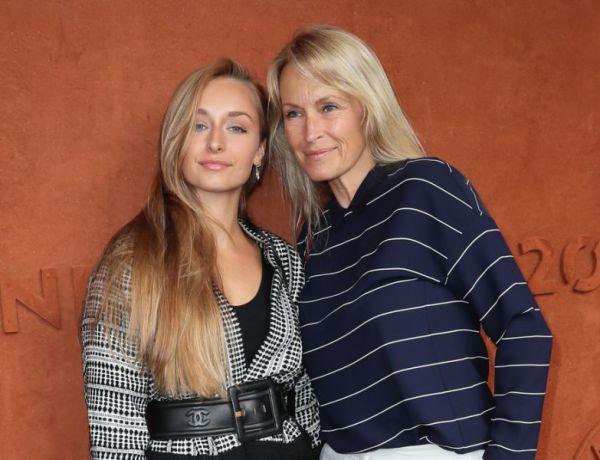 Roland-Garros: Estelle Lefébure et Emma Smet, mère et fille très complices!