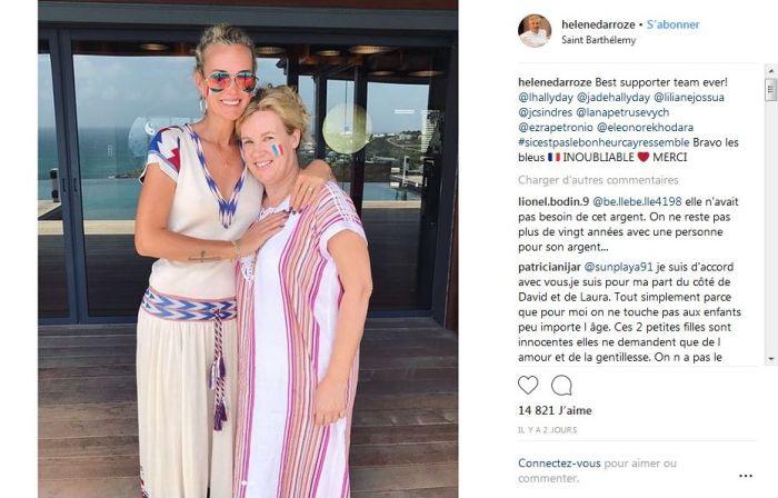 Laeticia Hallyday : Sa photo pour fêter la victoire des Bleus ne plaît pas !