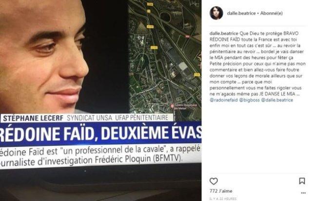 Béatrice Dalle : La comédienne revient sur son soutien polémique à Rédouane Faïd