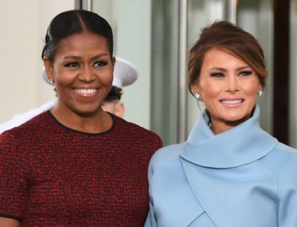Michelle Obama snobée par Melania Trump ?