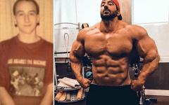 Musculation : Surnommé «Cure-dent» à l'adolescence, il se transforme en Hulk