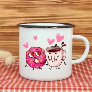 Hrnček plechový – Cookie & Coffee