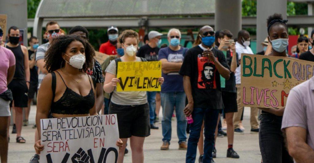 """Foto tomada por Dani Zaragoza en la manifestación """"Black Lives Matter"""" de Murcia 7 de Junio 2020"""