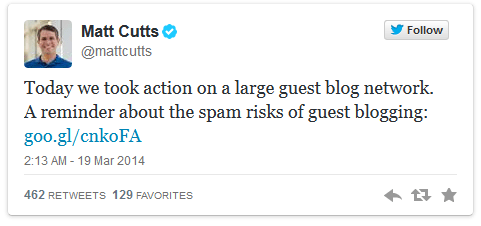 matt cutts tweet myblogguest guest blogging penalty
