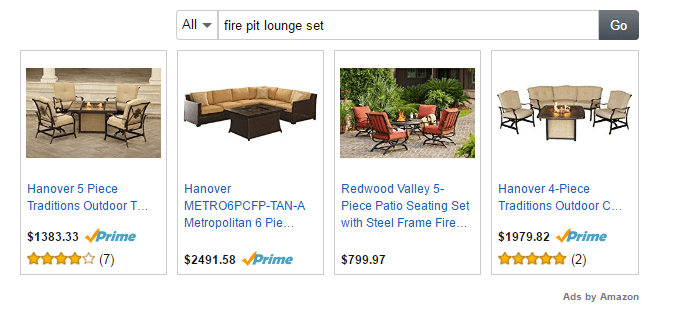 Amazon Natives Ads example