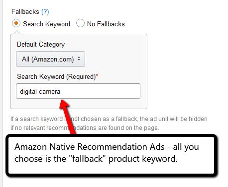 Amazon Native Recommendation Ads example from PotPieGirl.com