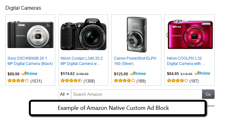 example of Amazon's Native Ads - Custom Ad Block from PotPieGirl.com