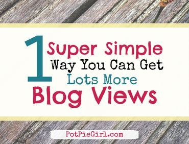 One SUPER SIMPLE way to get MORE blog views