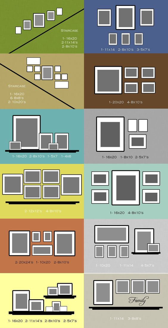 DIY picture frame hanging ideas and tutorials are really popular on Pinterest right now.  How to set up or hang picture frames properly - Blog post ideas from @PotPieGirl