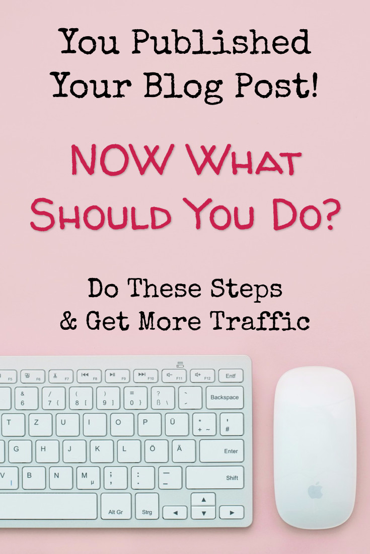 Free Cheat Sheet - What I Do AFTER Clicking Publish to get More Traffic to My Blog Posts