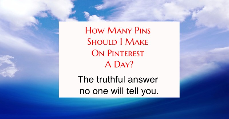 How often should I pin on Pinterest to get great traffic to my blog?  Here's you answer...