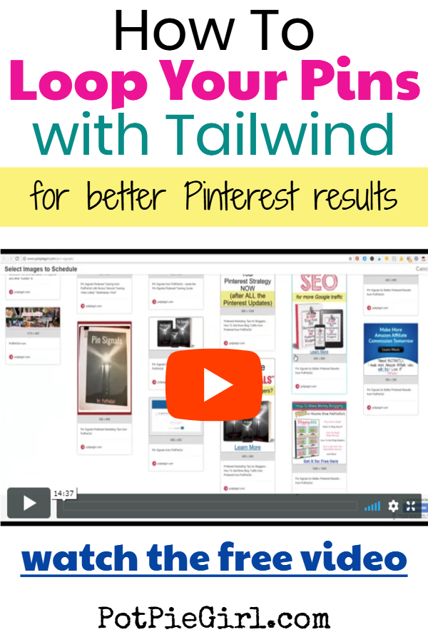 Get More Blog Traffic with Pinterest!  Pinterest Tips and Video Tutorial for Pinterest Marketers showing how to loop pins on Pinterest for more traffic from Pinterest