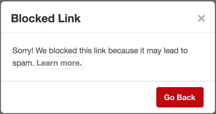 UH! Pinterest has marked your blog as SPAM - Now What?!?!