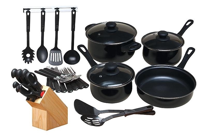 kitchen vessels set cabinets pittsburgh chef s du jour 32 piece combo review
