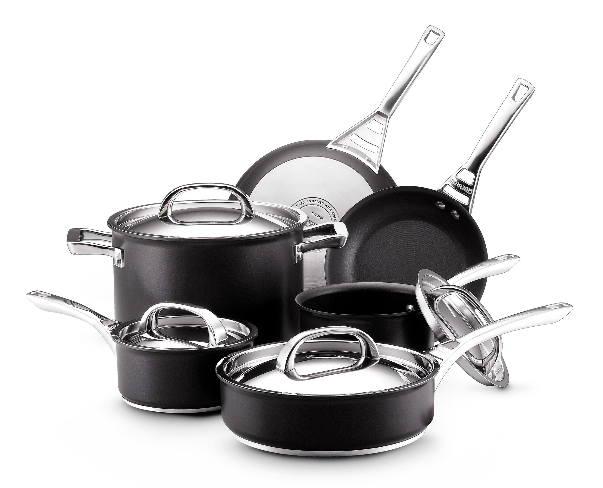 kitchen cookware sets ninja system pulse circulon infinite review hard anodized nonstick set