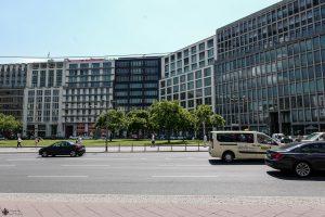 Ehemaliger Standort der Roten Infobox am Potsdamer Platz