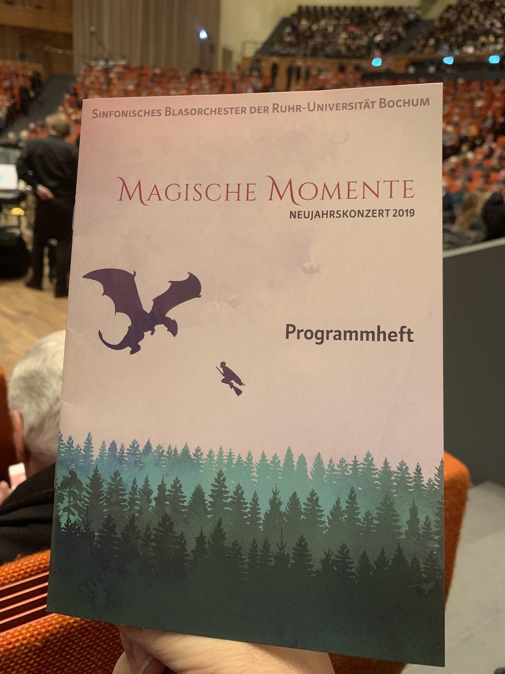 Unbedingt hin! #MagischeMomente: Das Neujahrskonzert 2019 des SBR (Sinfonischen Blasorchester der Ruhr-Universität Bochum) – heute: 17 Uhr