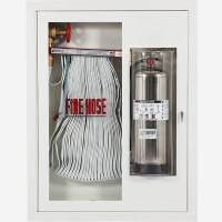 "Fire Rated 1.5"" Fire Hose Rack and Extinguisher (Bubble"