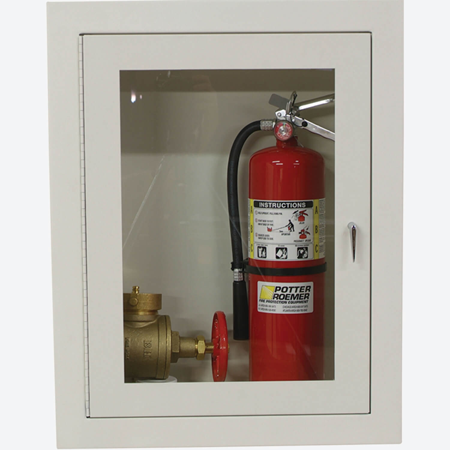 15 or 25 Fire Dept Valve and Extinguisher Cabinet